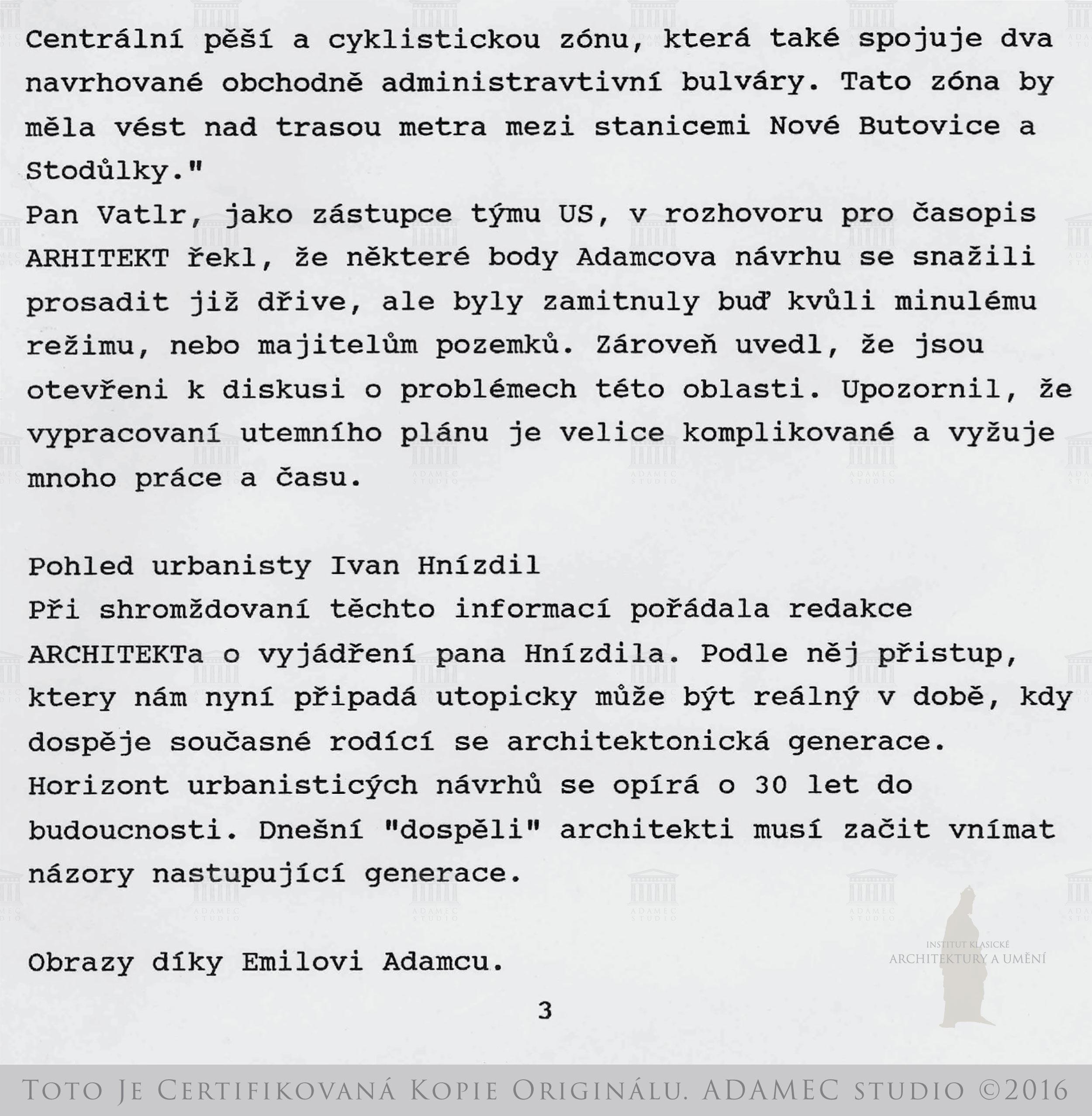 1996 Dohoda s městem těžkopádná ČR